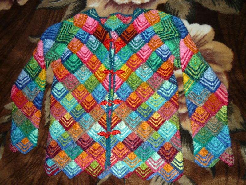 Вязание кофты от ромба